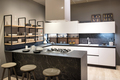 Modern kitchen interior with centre island and hob - PhotoDune Item for Sale