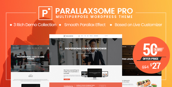 ParallaxSome Pro - Multipurpose WordPress Theme - Creative WordPress