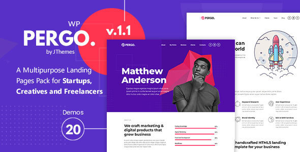 Pergo - Multipurpose Landing Page WordPress Theme - Marketing Corporate