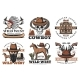 Wild West Icons, Cowboy and Horses - GraphicRiver Item for Sale