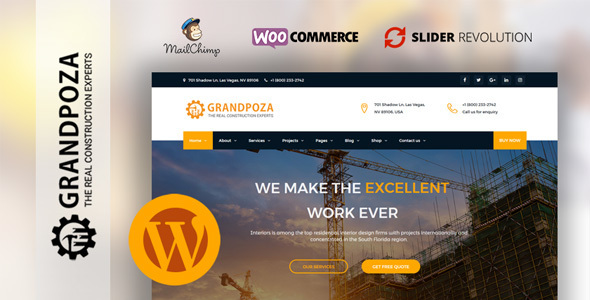 Grandpoza - Construction WordPress Theme - Business Corporate