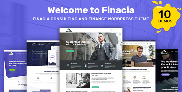 Finacia - Finance & Financial Consulting WordPress Theme