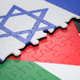 Israel versus Palestine Flag Border Conflict - PhotoDune Item for Sale