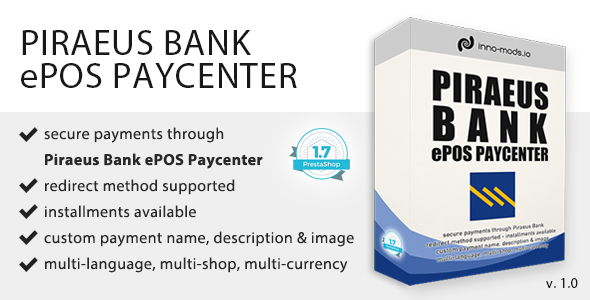 Piraeus Bank ePOS Paycenter for Prestashop            Nulled