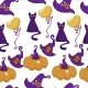 Halloween Holiday Symbols of Autumn Event Seamless - GraphicRiver Item for Sale
