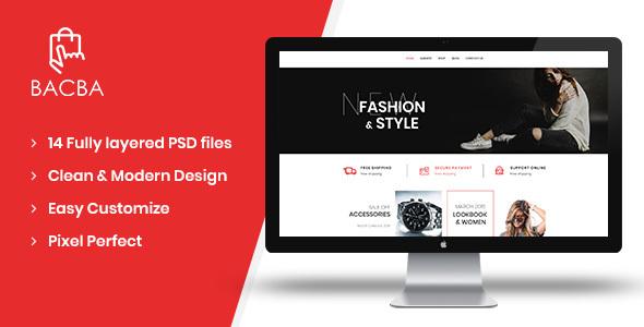 Bacba - Multipurpose eCommerce PSD Template - Retail PSD Templates
