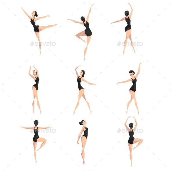 Female Ballet Dancer Set - Miscellaneous Vectors