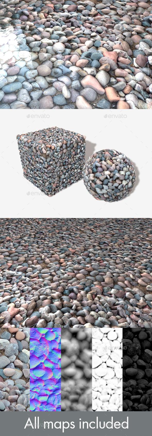 Purple Stones Seamless Texture - 3DOcean Item for Sale