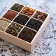 Various kind of dry tea in wooden box - PhotoDune Item for Sale