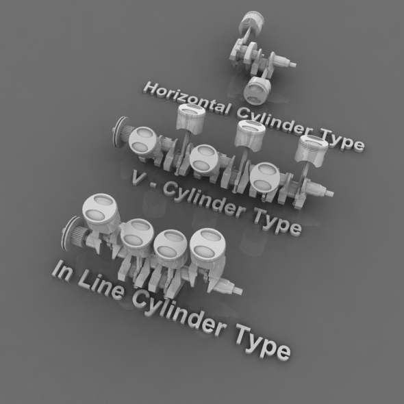 3 Type Cylinder Machine Pack - 3DOcean Item for Sale