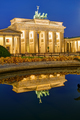 The famous Brandenburg Gate in Berlin at night - PhotoDune Item for Sale