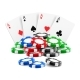 Playing Cards Near Stack of Casino Chips - GraphicRiver Item for Sale