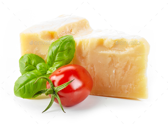 cheese, basil and tomato - Stock Photo - Images