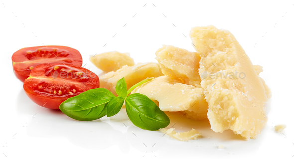 pieces of parmesan cheese - Stock Photo - Images