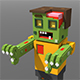 Voxel Zombie - 3DOcean Item for Sale