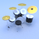 Drum Set - 3DOcean Item for Sale