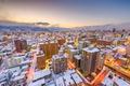 Sapporo, Japan Winter Skyline - PhotoDune Item for Sale