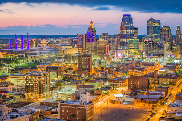 Kansas City, Missouri, USA Skyline - Stock Photo - Images