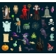 Halloween Holiday Evil Characters - GraphicRiver Item for Sale