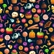 Sweet Halloween Treats Seamless Pattern - GraphicRiver Item for Sale