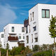 New building area with white apartment houses - PhotoDune Item for Sale