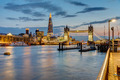 View of the river Thames in London after sunset  - PhotoDune Item for Sale