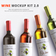 Wine Mockup Kit 2.0 - GraphicRiver Item for Sale