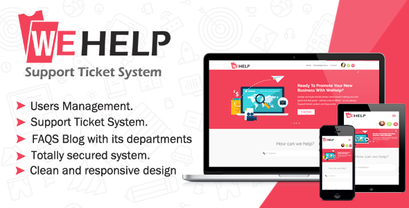 WeHelp - Ticket Support System            Nulled