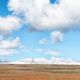 Farm landscape on road R46. Snow on Matroosberg is visible - PhotoDune Item for Sale