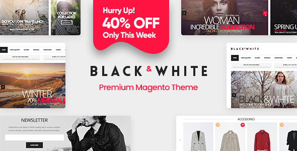 Black&White - Responsive Magento 2.2.x  and Magento 1 Theme - Magento eCommerce