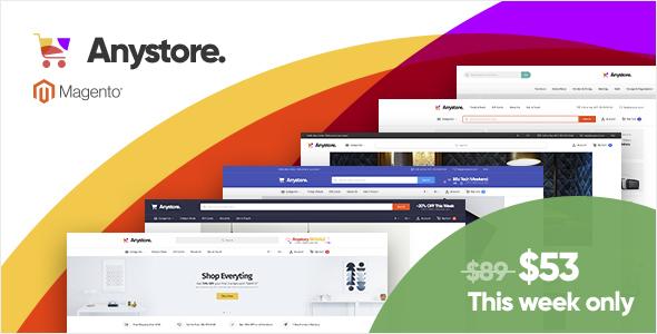 Anystore - Multi-Purpose Responsive Magento 1 Theme - Magento eCommerce