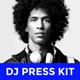 Modern DJ Press Kit / Rider / Resume PSD Template - GraphicRiver Item for Sale