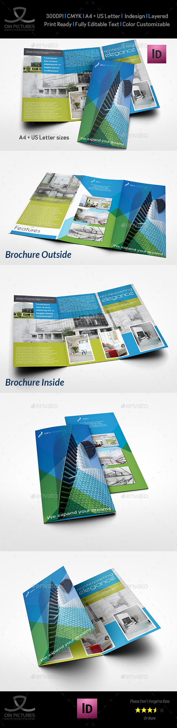 Architectural Design Tri-Fold Brochure Template Vol.2 - Brochures Print Templates