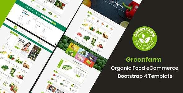 Greenfarm -  Organic Food eCommerce Bootstrap 4 Template