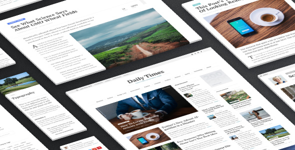 TIMES - Extraordinary Newspaper Magazine Theme - News / Editorial Blog / Magazine