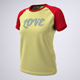 Woman's T-Shirt With Short or Raglan Sleeves Mock-Up - GraphicRiver Item for Sale