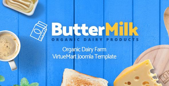 ButterMilk - Organic Dairy Farm VirtueMart Joomla Template - VirtueMart Joomla