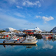 Fishing boats and yachts on pier in Norway - PhotoDune Item for Sale