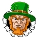 Leprechaun Mascot Cartoon Ripping Background - GraphicRiver Item for Sale