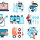 Online Medicine Flat Set - GraphicRiver Item for Sale