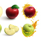 Apples Realistic Set - GraphicRiver Item for Sale