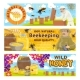 Beekeeping and Wild Honey on Apiary - GraphicRiver Item for Sale