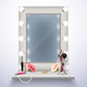 Makeup Mirror Realistic Composition - GraphicRiver Item for Sale