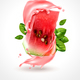 Watermelon Splash Realistic Composition - GraphicRiver Item for Sale