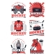 Ice Hockey Items Icons - GraphicRiver Item for Sale