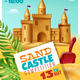 Sandy Castle Competition Realistic Poster - GraphicRiver Item for Sale