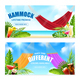 Realistic Hammock Tropical Banner Set - GraphicRiver Item for Sale