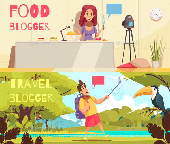 Food Blogger Banners Collection - Food Objects