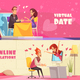 Virtual Date Horizontal Banners - GraphicRiver Item for Sale
