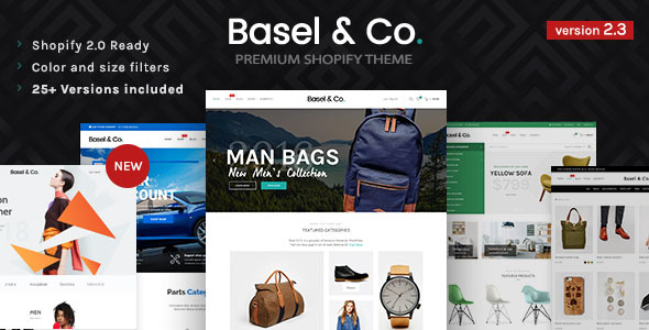 Basel - Responsive eCommerce Shopify Theme (Fashion, Electronics and many more) - Shopify eCommerce